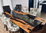Epoxy resin furniture