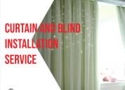 Curtain and blind installation handyman in dubai