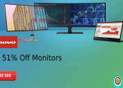 Up to 51% off monitors