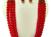 Handmade necklace with thread