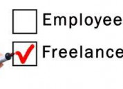 Online / offline work as part time / full time