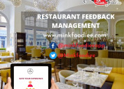 Get your customers' feedback with mink foodiee