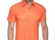 Enthusiastic orange mens polo