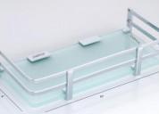 Superior quality bathroom corner shelf glass for s
