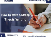 Thesis writing assistance