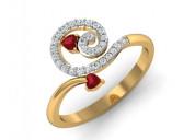 Buy gia tourmaline & diamond ring in india