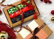 Cotton handkerchief gift set online - set of 3