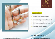 Buy silver jewelry online, silver mangalsutra
