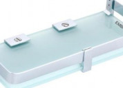 Get glass bathroom shelves online at best price on