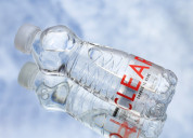 Clear 1000 ml packaged drinking water bottle