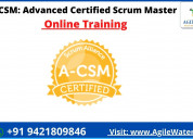 Advanced certified scrum master training