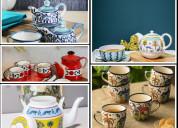 Shop ceramic teaware set online in pune | woodenst