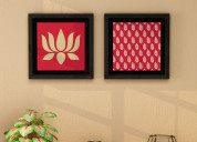 Buy wooden wall paintings online - badhai décor