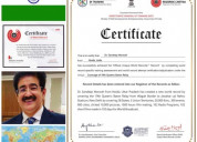 Fifth world record of sandeep marwah approved