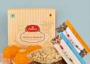 Send rakhi with sweets online to your brother