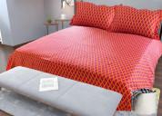 Cotton digital printed bedsheet online 9319855901