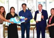Sandeep marwah presented with ambassador of abraha