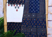 Traditional ajrakh suits collection online - sseth