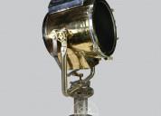 Brass spot light with aluminium cap & iron base