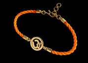 Om bracelet with gold plated in silver