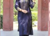 Shop for latest blue kurti design