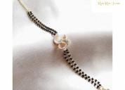 Silver mangalsutra with gold plating