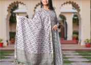 Cotton kurti pant set with dupatta @ best prices |