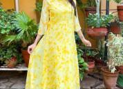 Make your online shopping for yellow kurtis at par