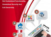 Get secure and scalable cms website development...
