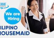 We are hiring filipino maids - filipinpo maids job
