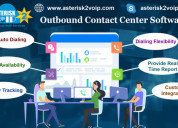 Outbound contact center software-asterisk2voip