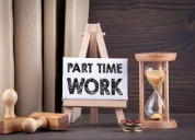 We are hiring back office work for part time work