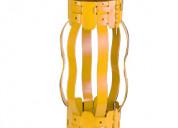 Semi rigid non-welded bow spring centralizer