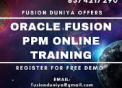 Oracle cloud ppm training in hyderabad