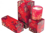Printed wholesale candle boxes wholesale with free