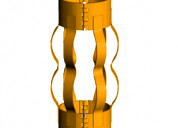 Slip on semi-rigid welded bow spring centralizer