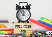 Urgent hiring for back office worker.
