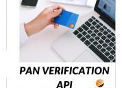Pan card number verification api