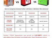 15kva generators' comparison: perfect vs. kirloska