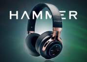 Hammer bash over the ear headphones with hd mic