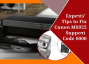 How to fix canon mx922 support code 6000?