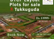 Buy open plots in tukkuguda