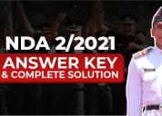 Nda 2 answer key 2021 by major kalshi classes